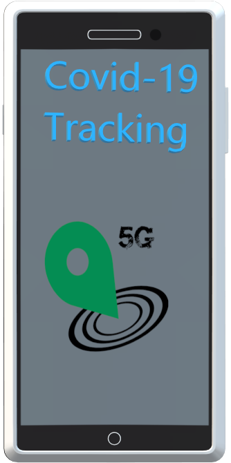 Example of Covid-19 tracking app in a mobile phone